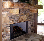 Hewn Fireplace Mantel